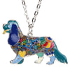 Cavalier Enamel Pendant Necklace