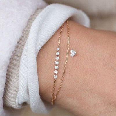 Double Layer Heart Bracelet