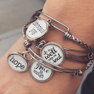 Never Lose Hope - Bangle Bracelet