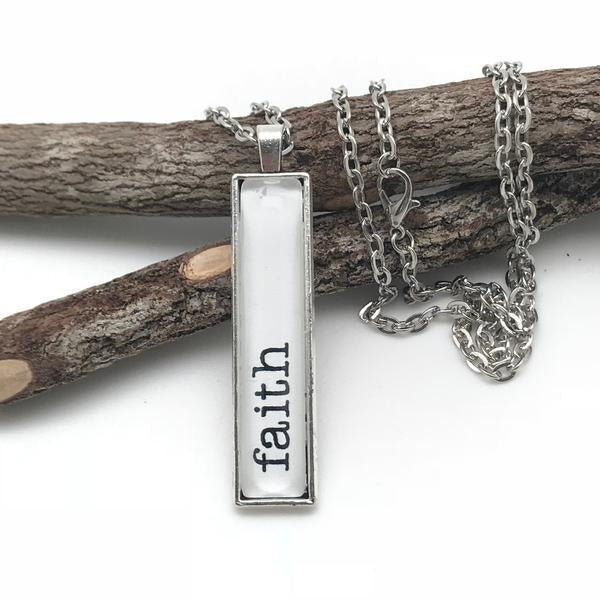 Never Lose Hope - Bar Sentiment Necklace