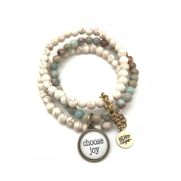 Never Lose Hope - Stackable Bracelet Set of 3