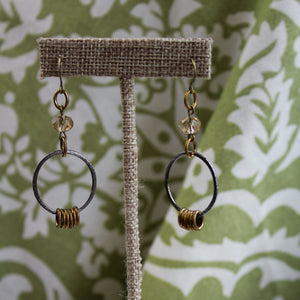 Handmade Crystal Bead Drop Earrings