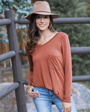 Grace & Lace - Long Sleeve Perfect Pocket Tee