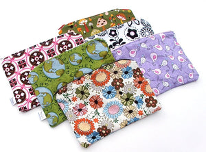 "MADE TO ORDER - Wee Wet Bag small waterproof pouch for your purse or diaper bag - 5"" X 7"" or 8"" by 8"" wetbag"