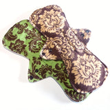 MADE TO ORDER - Reusable Cloth Menstrual pads- set of two 13 inch pads - choose your fabric and absorbency