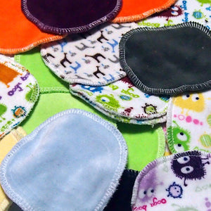 Random Assortment of 12 Wee Wipes - Reusable Makeup Remover Cloth/Face Scrubbies in Cotton Velour