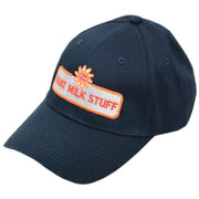 goat milk stuff ball cap - navy blue hat