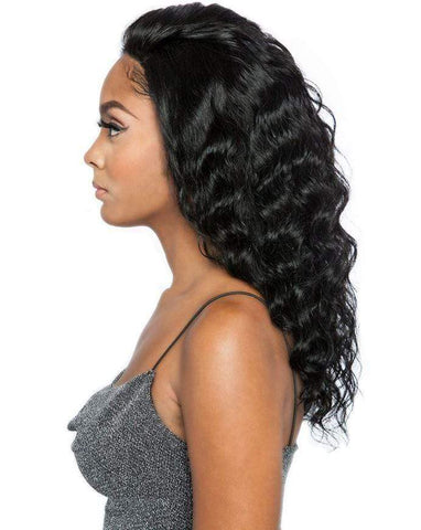 "Mane Concept Free Part Lace Wigs Natural Black Mane Concept Trill Free Part 100% Brazilian Virgin Remy Wig - TRL4420 WHOLE LACE LOOSE BODY 18""~20"""