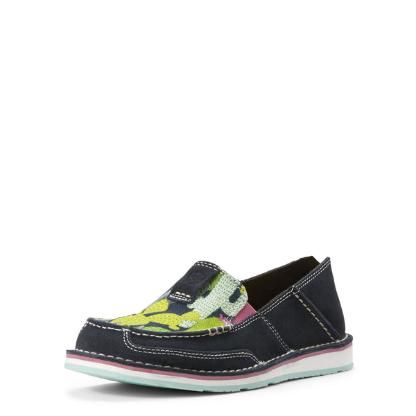 Womens Cruiser, Navy Suede/Mint Cactus