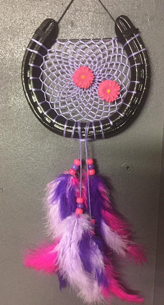 Pink and Purple Flowers Dreamcatcher