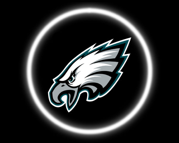 2 Wireless LED Laser Philadelphia Eagles Car Door Lights