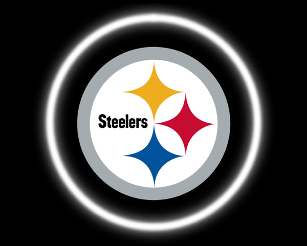 2 Wireless LED Laser Pittsburgh Steelers Car Door Lights