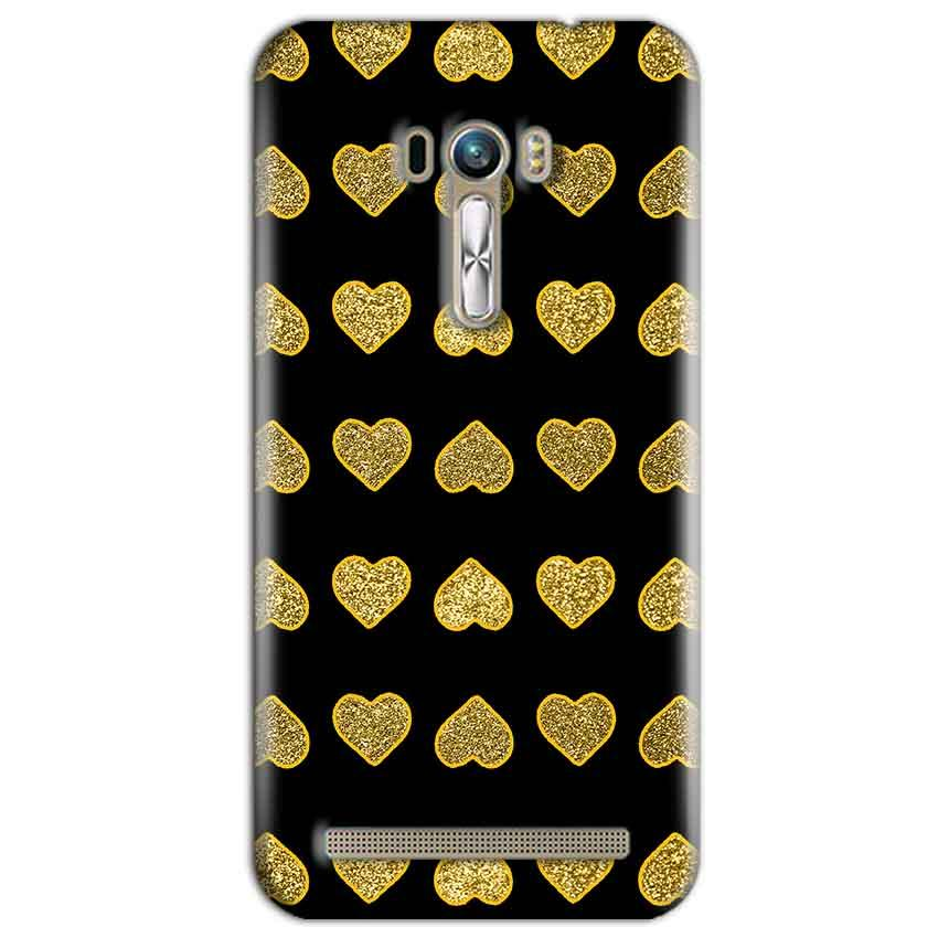ASUS Zenfone Selfie Golden Little Mobile Covers Cases Hearts- Lowest Price - Paybydaddy.com