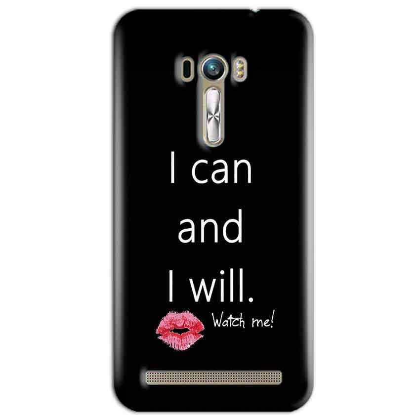 ASUS Zenfone Selfie Mobile Covers Cases i can and i will Lips - Lowest Price - Paybydaddy.com