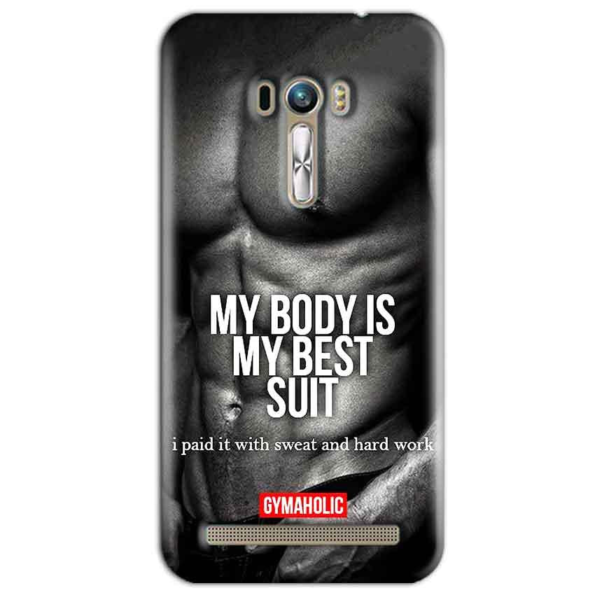 ASUS Zenfone Selfie Mobile Covers Cases My Body is my best suit - Lowest Price - Paybydaddy.com