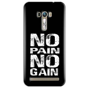 ASUS Zenfone Selfie Mobile Covers Cases No Pain No Gain Black And White - Lowest Price - Paybydaddy.com