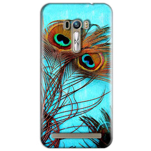 ASUS Zenfone Selfie Mobile Covers Cases Peacock blue wings - Lowest Price - Paybydaddy.com
