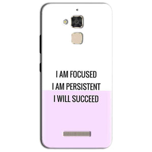 Asus Zenfone 3 Max Mobile Covers Cases I am Focused - Lowest Price - Paybydaddy.com