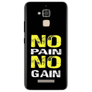 Asus Zenfone 3 Max Mobile Covers Cases No Pain No Gain Yellow Black - Lowest Price - Paybydaddy.com