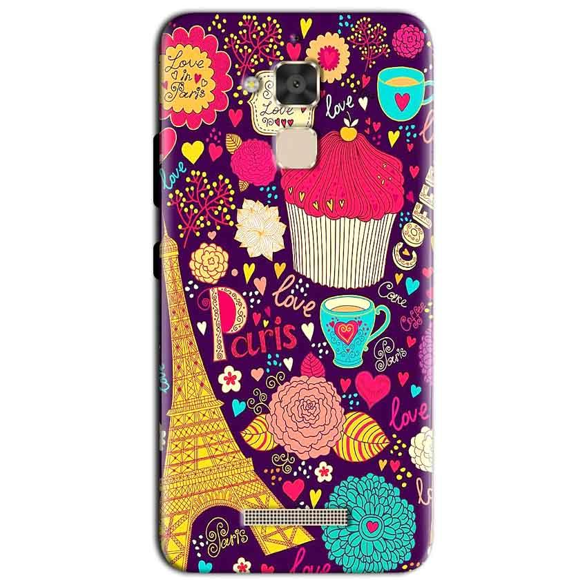 Asus Zenfone 3 Max Mobile Covers Cases Paris Sweet love - Lowest Price - Paybydaddy.com
