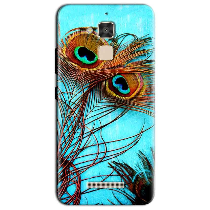 Asus Zenfone 3 Max Mobile Covers Cases Peacock blue wings - Lowest Price - Paybydaddy.com