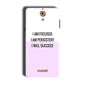 Coolpad Mega 2.5D Mobile Covers Cases I am Focused - Lowest Price - Paybydaddy.com