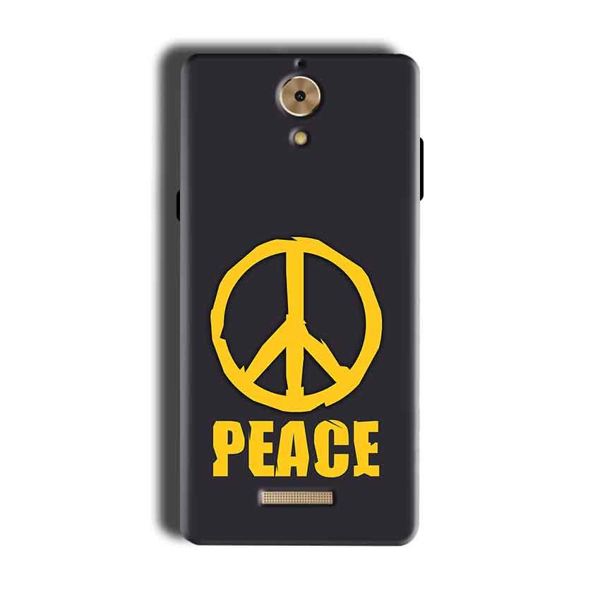 Coolpad Mega 2.5D Mobile Covers Cases Peace Blue Yellow - Lowest Price - Paybydaddy.com