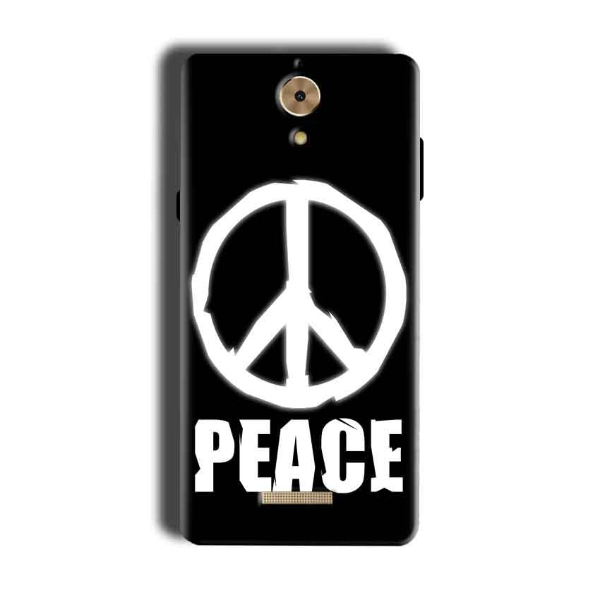 Coolpad Mega 2.5D Mobile Covers Cases Peace Sign In White - Lowest Price - Paybydaddy.com