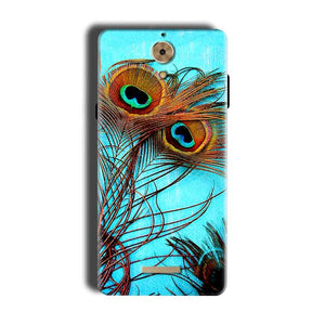 Coolpad Mega 2.5D Mobile Covers Cases Peacock blue wings - Lowest Price - Paybydaddy.com