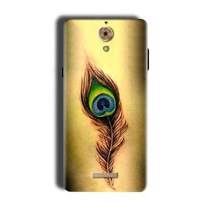 Coolpad Mega 2.5D Mobile Covers Cases Peacock coloured art - Lowest Price - Paybydaddy.com