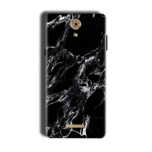Coolpad Mega 2.5D Mobile Covers Cases Pure Black Marble Texture - Lowest Price - Paybydaddy.com