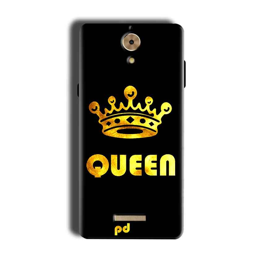 Coolpad Mega 2.5D Mobile Covers Cases Queen With Crown in gold - Lowest Price - Paybydaddy.com