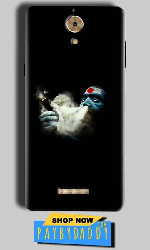Coolpad Mega 2.5D Mobile Covers Cases Shiva Aghori Smoking - Lowest Price - Paybydaddy.com
