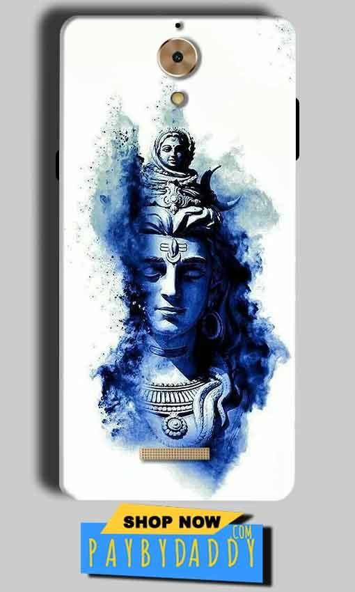 Coolpad Mega 2.5D Mobile Covers Cases Shiva Blue White - Lowest Price - Paybydaddy.com
