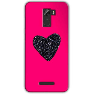 Gionee A1 Lite Mobile Covers Cases Pink Glitter Heart - Lowest Price - Paybydaddy.com