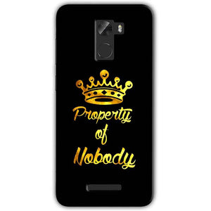 Gionee A1 Lite Mobile Covers Cases Property of nobody with Crown - Lowest Price - Paybydaddy.com