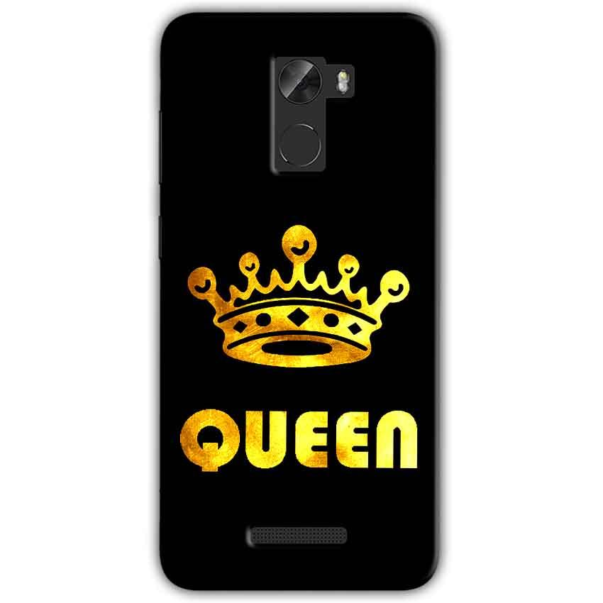 Gionee A1 Lite Mobile Covers Cases Queen With Crown in gold - Lowest Price - Paybydaddy.com