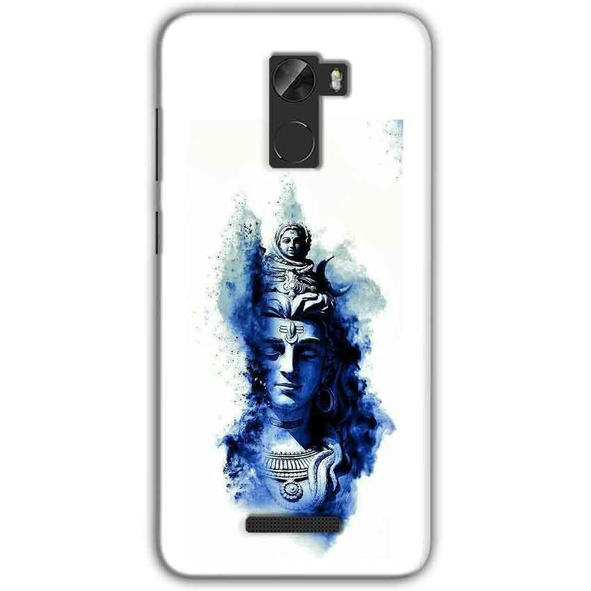 Gionee A1 Lite Mobile Covers Cases Shiva Blue White - Lowest Price - Paybydaddy.com
