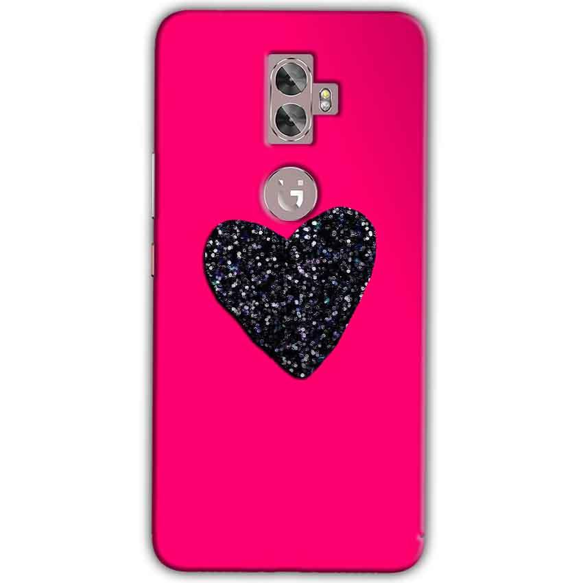 Gionee A1 Plus Mobile Covers Cases Pink Glitter Heart - Lowest Price - Paybydaddy.com