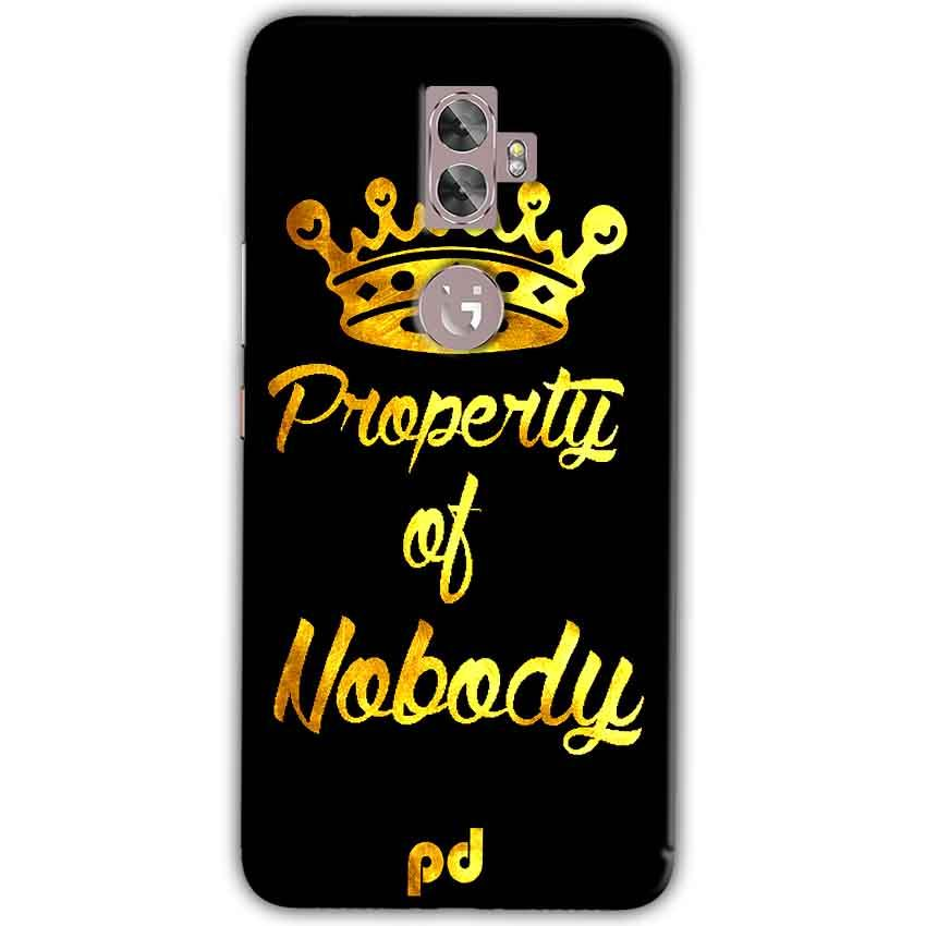 Gionee A1 Plus Mobile Covers Cases Property of nobody with Crown - Lowest Price - Paybydaddy.com