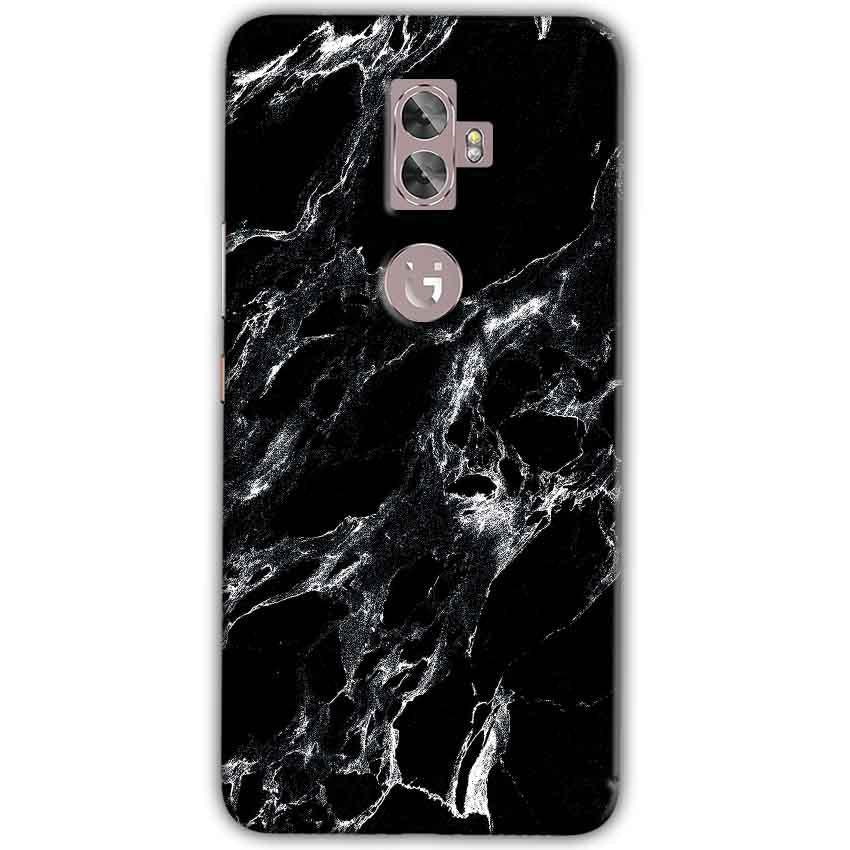Gionee A1 Plus Mobile Covers Cases Pure Black Marble Texture - Lowest Price - Paybydaddy.com