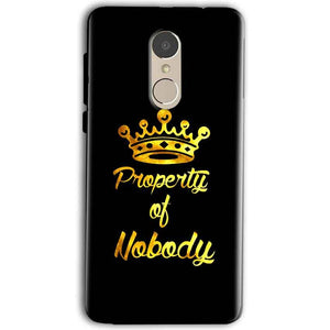 Gionee A1 Mobile Covers Cases Property of nobody with Crown - Lowest Price - Paybydaddy.com