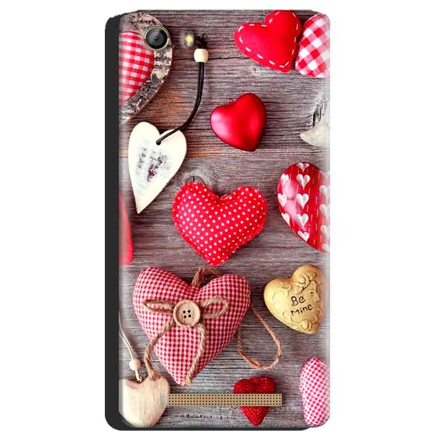 Gionee Marathon M5 Mobile Covers Cases Hearts- Lowest Price - Paybydaddy.com