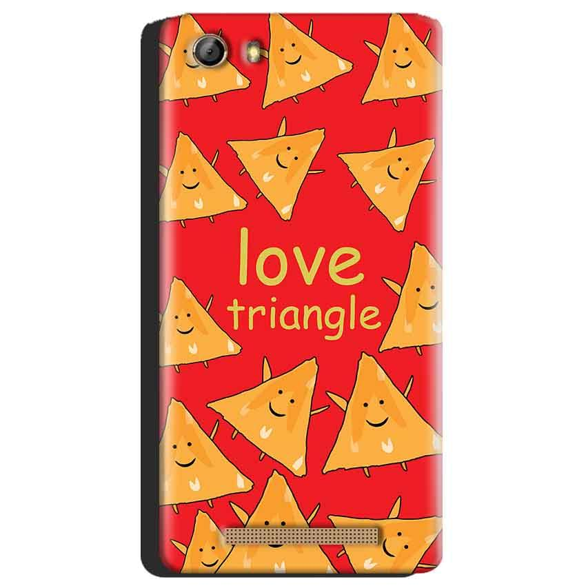 Gionee Marathon M5 Mobile Covers Cases Love Triangle - Lowest Price - Paybydaddy.com