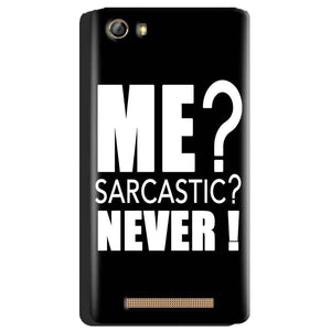 Gionee Marathon M5 Mobile Covers Cases Me sarcastic - Lowest Price - Paybydaddy.com