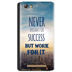 Gionee Marathon M5 Mobile Covers Cases Never Dreams For Success But Work For It Quote - Lowest Price - Paybydaddy.com