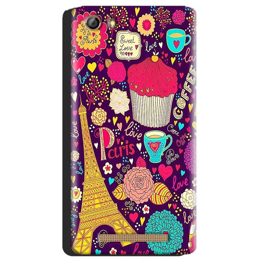 Gionee Marathon M5 Mobile Covers Cases Paris Sweet love - Lowest Price - Paybydaddy.com