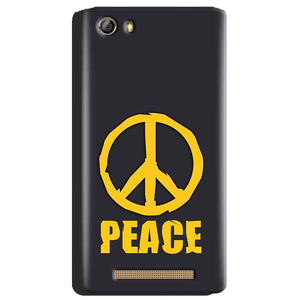 Gionee Marathon M5 Mobile Covers Cases Peace Blue Yellow - Lowest Price - Paybydaddy.com
