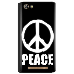 Gionee Marathon M5 Mobile Covers Cases Peace Sign In White - Lowest Price - Paybydaddy.com