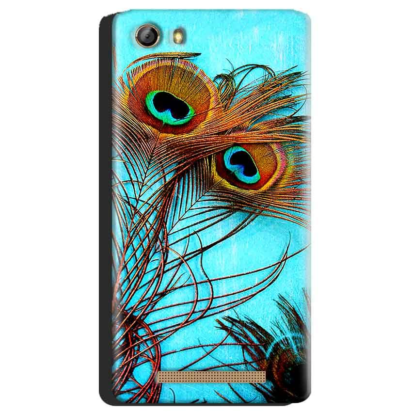 Gionee Marathon M5 Mobile Covers Cases Peacock blue wings - Lowest Price - Paybydaddy.com